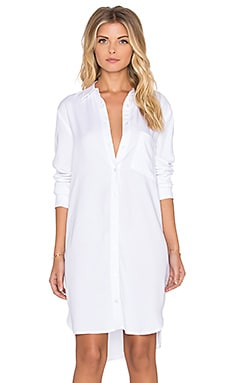 WAYF Shirt Dress in White