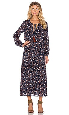 WAYF Boho Maxi Dress in Navy Floral