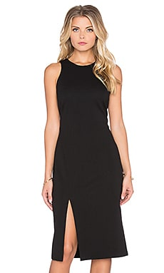 WAYF Slit Bodycon Dress in Black