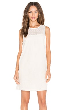 WAYF Tank Dress in Ivory Embroidery