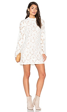 Belvue Lace Dress in Ivory