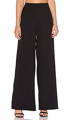 WAYF Highwaisted Wide Leg Pant in Black