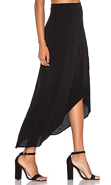 WAYF Veda Wrap Skirt in Black