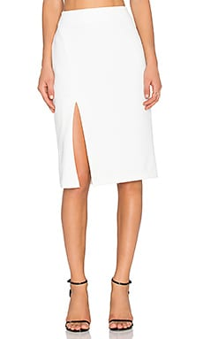 WAYF Pencil Skirt in White