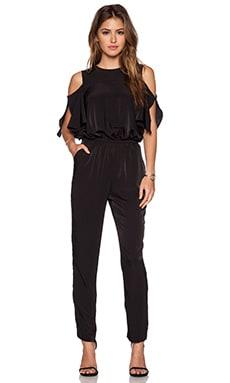 WAYF Cold Shoulder Jumpsuit in Black