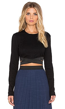 WAYF Crop Top in Black