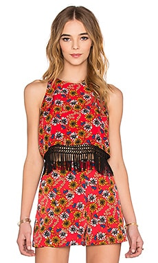 WAYF Fringe Tank in Daisy Floral
