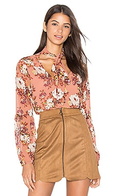 Newbury Blouse en Rose Floral
