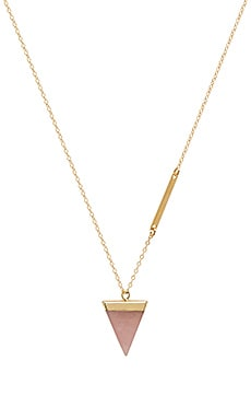 Crystal Triangle Long Necklace