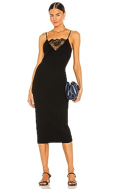 Lux Ribbed Dress With Lace Weekend Stories $278