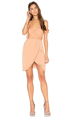 Claudia Lace Cold Shoulder Dress in Terracotta
