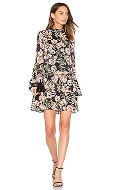Jojo Frill Sleeve Dress in Painterly Floral