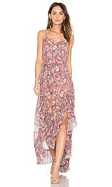 Maggie Pleat Maxi Dress in Blush Blossom