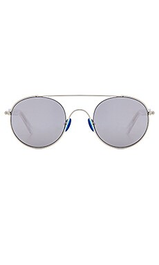 Cellophane Disco Sunglasses in Crystal Shiny Acetate