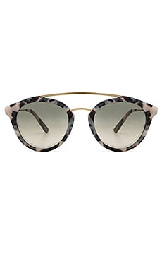 Double Bridge Sunglasses in Snow Leopard Acetate