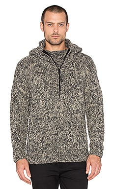 wings + horns Handknit Anorak Sweater in Dune