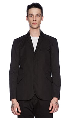 wings + horns Sateen Field Blazer in Black