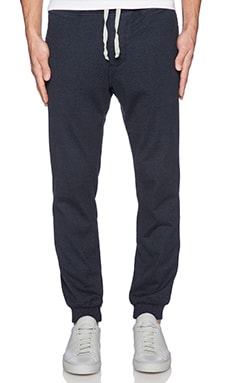 wings + horns Marled Jersey Pant in Navy