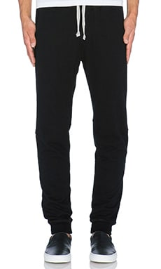 wings + horns Terry PO Pants in Black