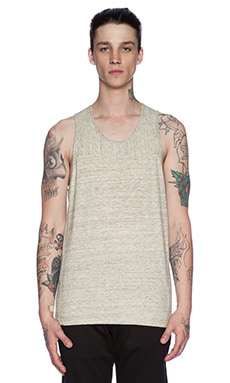 wings + horns Heather Jersey Tank in Sage Melange