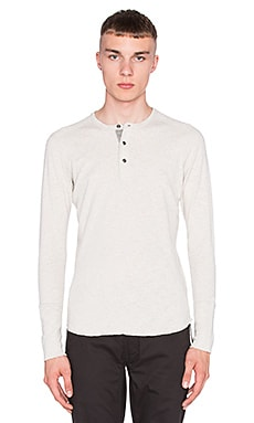 wings + horns Slub Long Sleeve Henley in Heather Ash