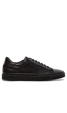 wings + horns Leather Low Top Sneaker in Black/Black/Black