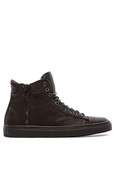 wings + horns Leather Hi-Top Sneaker in Black/Black/Black