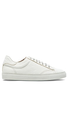 wings + horns Leather Low Top Sneaker in White/White/White