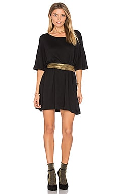 T-Shirt Dress in Clean Black