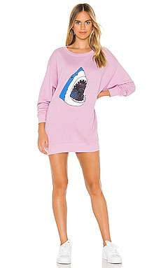 Space Shark Roadtrip Sweater Dress Wildfox Couture $76