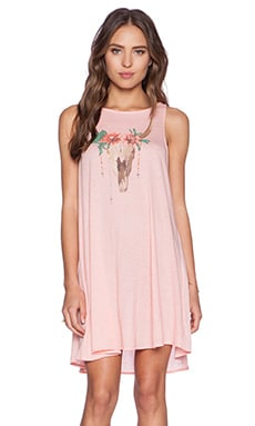 Wildfox Couture Desert Dahlia Dress in Peony