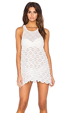 Siren Shift Dress en Blanc Eclatant