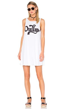 Outlaw Tank Dress in Clean White