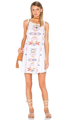 Road Runner Tank Dress in Clean White