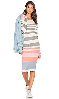 Sunset Stripe Dress in Multi Colored