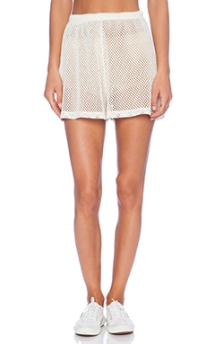 Wildfox Couture Foxercise Classic Logo Short in Vintage Lace