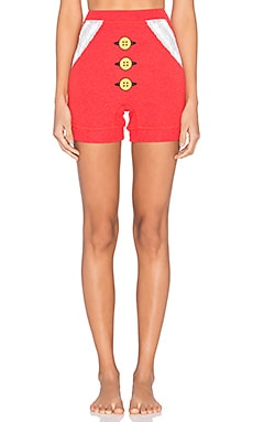 Wildfox Couture Mrs. Claus Shorts in Marinara