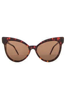 Wildfox Couture Grand Dame Sunglasses in Tokyo Tortoise & Brown Solid