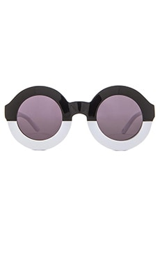 Wildfox Couture Twiggy Sunglasses in Factory Black & White