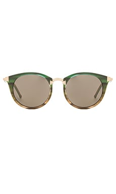 Wildfox Couture Sunset Sunglasses in Rainforest & G15 Sun