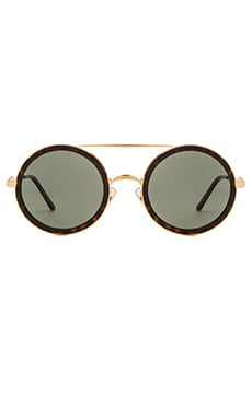 Wildfox Couture Winona Sunglasses in Gold Tortoise & G15 Sun