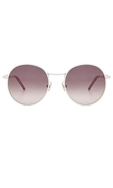 Wildfox Couture Dakota Sunglasses White Breeze & Grey Gradient