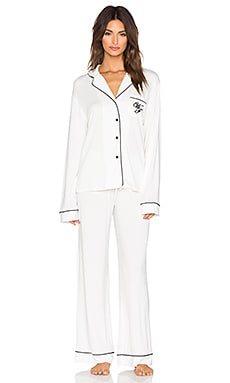 Wildfox Couture Morning Person Pajama Set in Vanilla