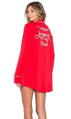 Wildfox Couture Joyeux Noel Sleep Shirt in Red