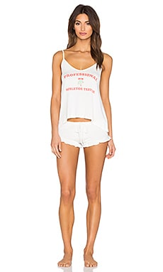 Wildfox Couture Trust Me, I'm A Professional Pajama Set in Vanilla
