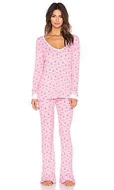 Wildfox Couture Santa Gnomes Pajama Set in Multi