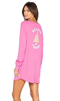 Wildfox Couture Rockin' Around Sleep Shirt in Mod Magenta