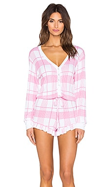 Wildfox Couture Pink Plaid Romper in Pink Plaid