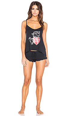 Wildfox Couture Furever Pajama Set in Black