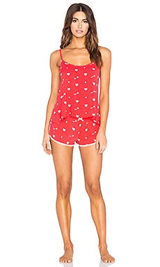 Wildfox Couture Cupid Hearts Pajama Set in Cupid Hearts